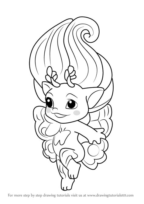 coloring pages zelfs learn how to draw dolly from the zelfs the zelfs step by