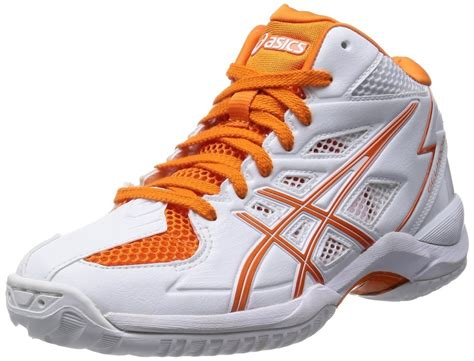 orange and white basketball shoes asics basketball shoes asics gelhoop v6 slim tbf310 0109
