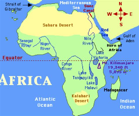 map of africa deserts the desert geography webquest