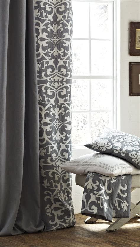 grey pattern valance 25 best ideas about gray curtains on pinterest grey