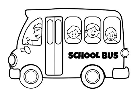 coloring page of school bus driver bus driver drive school bus safely coloring pages bus