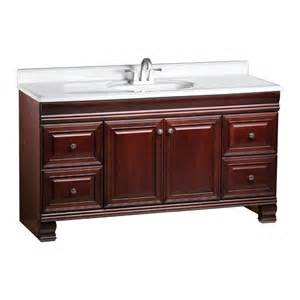 60 Inch Vanity Lowes Shop Estate By Rsi Cambridge Burgundy Traditional Maple
