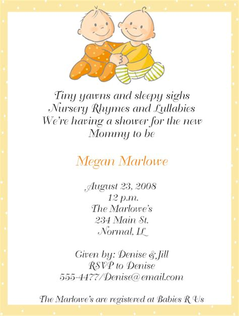 baby shower invitations templates for twins twins baby shower invitations baby shower decoration ideas