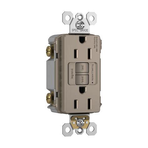 4 outlet gfci legrand pass seymour 15 125 volt 2 outlet self test
