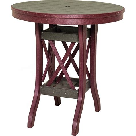 48 plywood round tables seats 4 6 poly lumber patio furniture