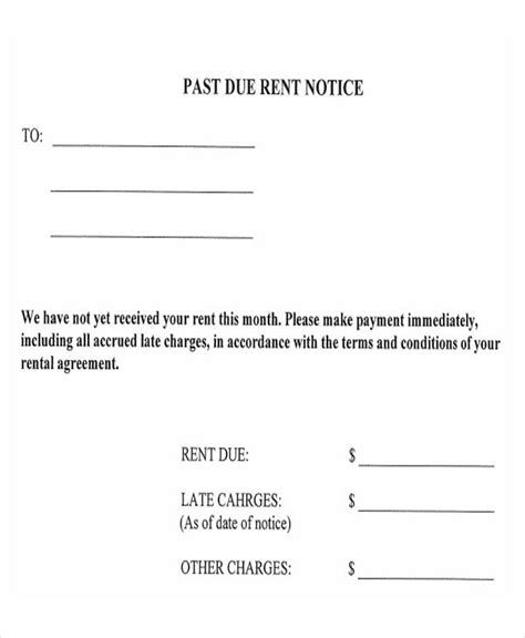 Late Payment Letter Free Premium Templates Rent Payment Agreement Template