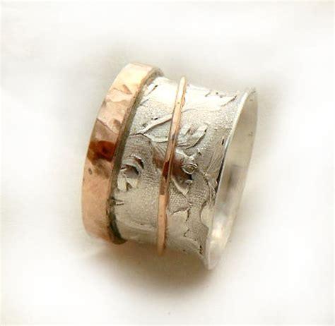 gold leaf pattern ring sterling silver leaf pattern ring spring wedding rose gold