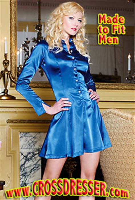 best hair styles for male to female crossdressers crossdresser com releases their new satin dress style