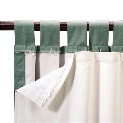 white blackout curtain liner roc lon blackout energy efficient curtain panel liner