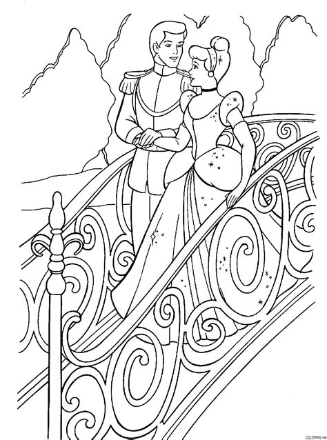 Coloring Page Cinderella Scale And Prince Coloring Me Prince Coloring Pages