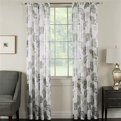 piera taupe gray patterned sheer curtain contemporary buy brinkley sheer 63 inch rod pocket sheer waterflower