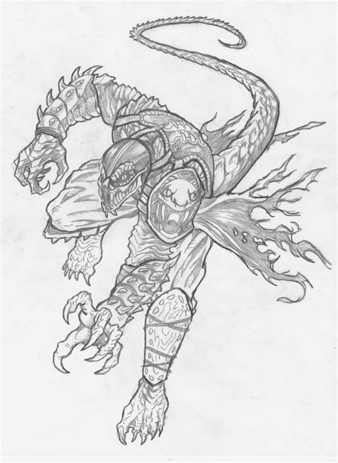 Mortal Kombat X Sketches by Mortal Kombat Drawings Images Coloring Pages For