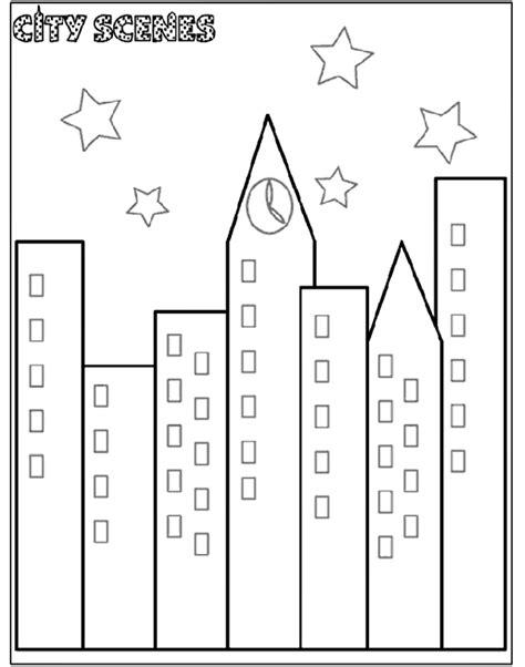 city scene coloring page crayola com