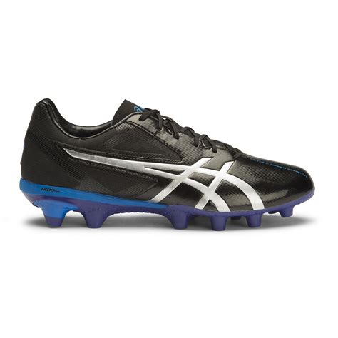 Asics Football Gear asics lethal speed flash it mens football boots black silver asics blue sportitude