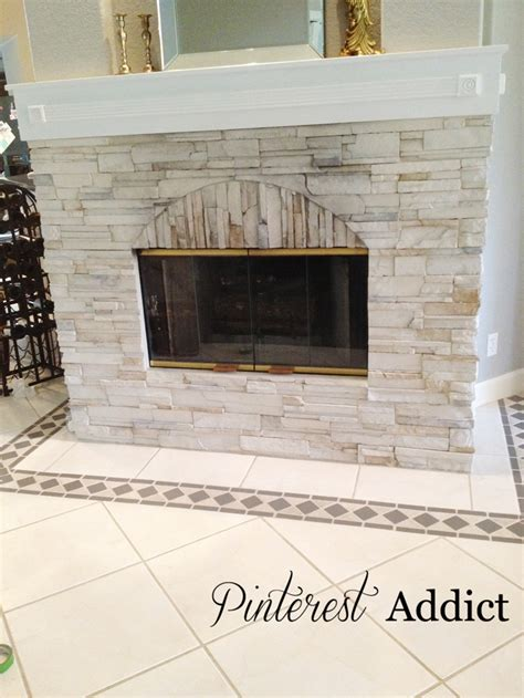 Fireplace Floor by Painting Floor Tile Addict