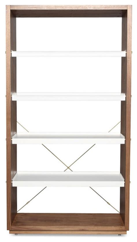 blu dot totem bookcase blu dot d3 bookcase walnut white modern bookcases