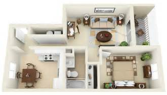 Floor Plans For Small House 50 One 1 Bedroom Apartment House Plans Architecture