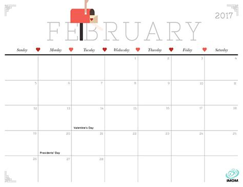 printable calendar cute 2017 cute and crafty 2017 printable calendar imom