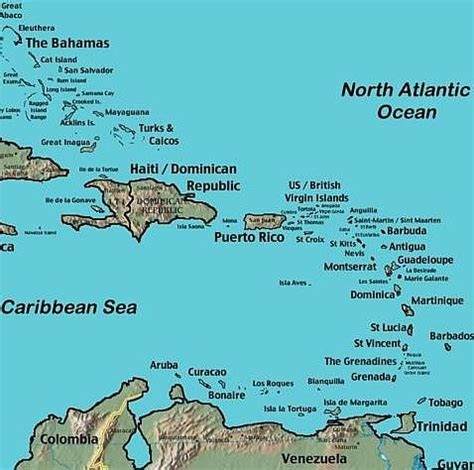 map  caribbean maps  plan  trip including