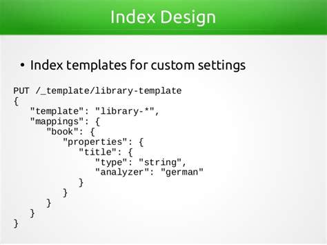 Data Modeling For Elasticsearch Elasticsearch Get Template