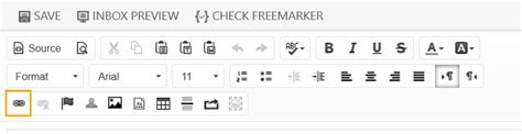 clickdimensions layout manager linking to web content records in an email