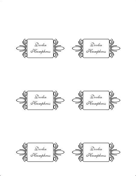 Free Blank Place Card Template by Free Printable Blank Place Card Template Brokeasshome