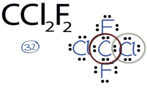 Lewis Structure Drawer by Ccl2f2 Lewis Structure How To Draw The Lewis Structure For Ccl2f2