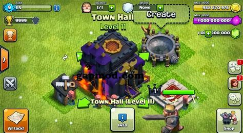 download clash of clans update update download clash of clans v7 1 1 mod apk unlimited