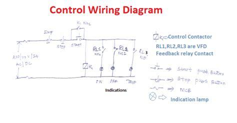 vfd start stop wiring diagram electricalu