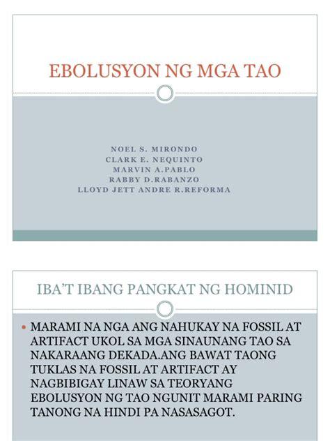 meaning ng pattern ebolusyon ng tao