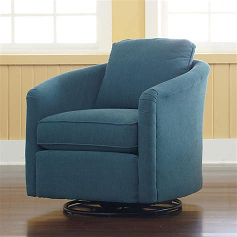 traditional upholstered tub swivel glider chair