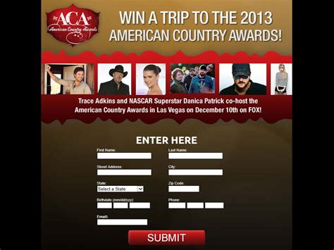 American Cash Awards Sweepstakes - american country awards promotion sweepstakes fanatics