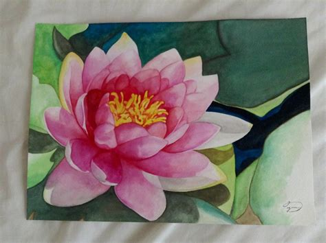watercolor water lily tutorial watercolor water lily by heyoitsdarlene on deviantart