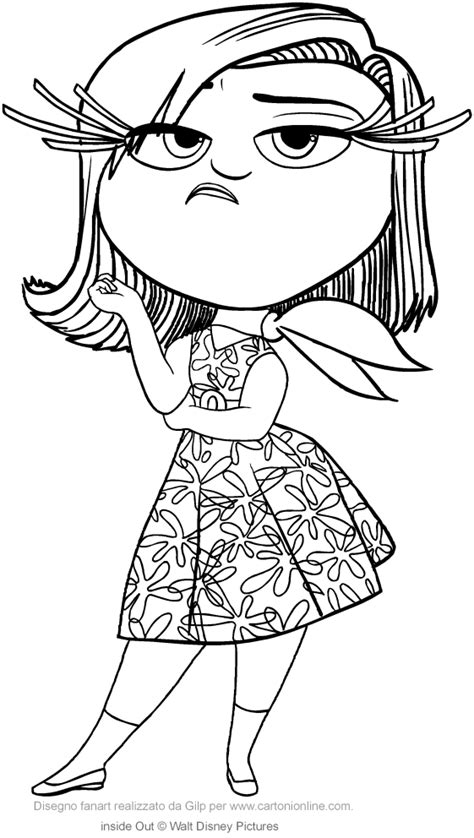coloring pages of disgust from inside out disgust inside out coloring pages