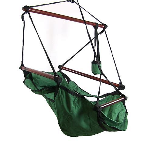 Hanging hammock chair w pillow amp drink holder