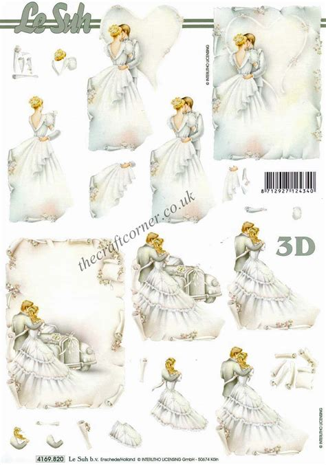 Free Printable 3d Decoupage Sheets - and groom wedding 3d decoupage sheet