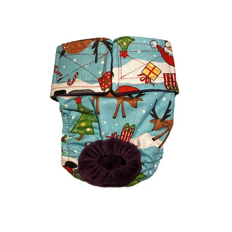 santa claus reindeer christmas tree washable bunny diaper