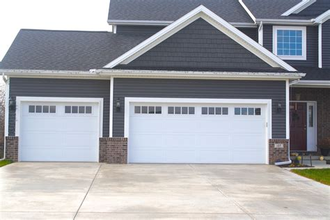 Long Panel Carriage Style White Garage Door In Downs Il White Garage Door