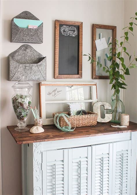 multi functional and cute command center the inspired room coastal farmhouse command center sand dollar lane