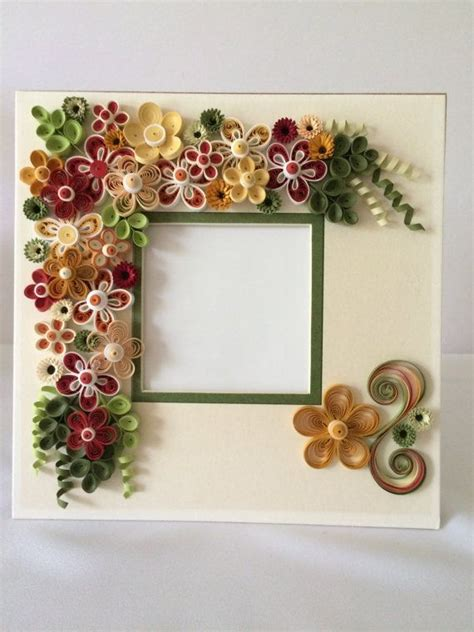 Handmade Quilling Frames - quilled flowers in shadow box frame my quilled frames