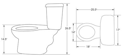 size of toilet standard dimensions of a toilet home design mannahatta us