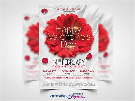 valentines day flyer template free psd download download psd