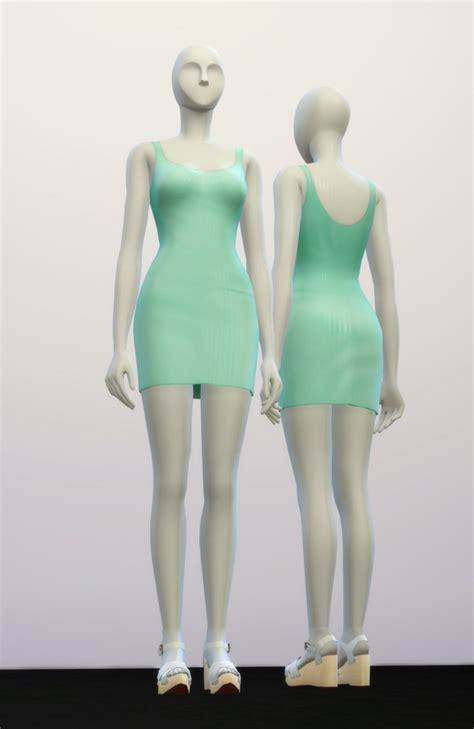 Deashyta Flowery Turtle Neck Mini Dress basic dress m ii at nail 187 sims 4 updates