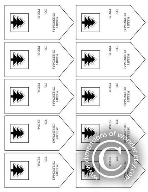 printable christmas tags black and white 6 best images of free printable christmas gift tags black
