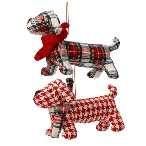 linea frosty tartan sausage dogs from house of fraser