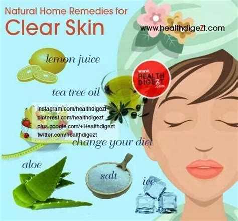remedy for clear skin home remedies health care tips