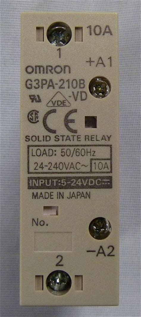Solid State Relay G3pa 210b Vd omron g3pa 210b vd solid state relay din mount