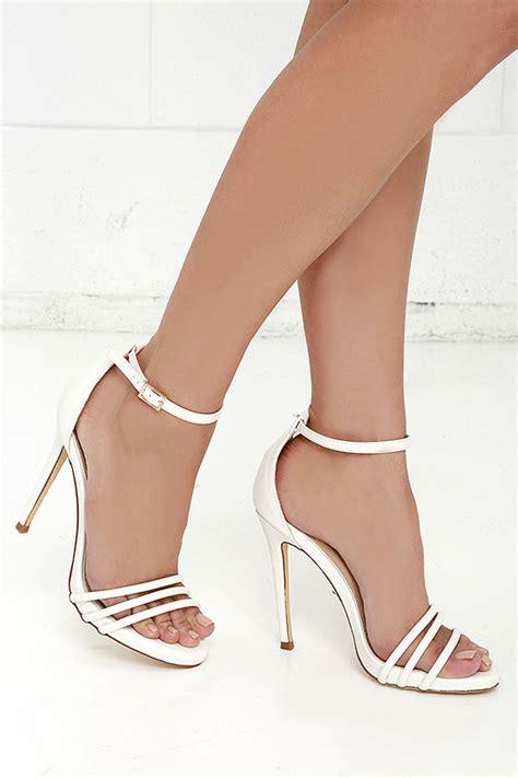 white ankle high heels white single sole heels ankle heels high heel
