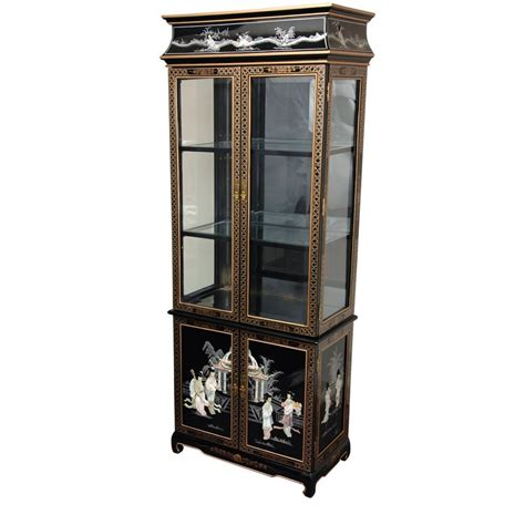 black lacquer bookshelves black lacquer curio cabinet of pearl