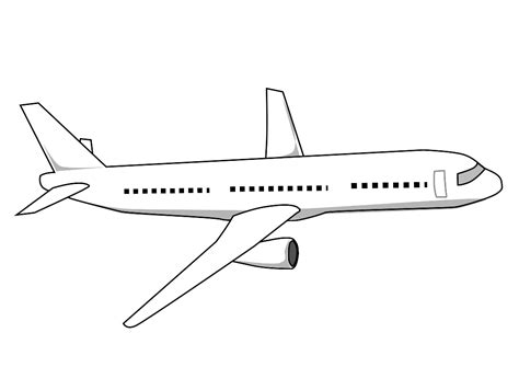 plane outline drawing clipart best